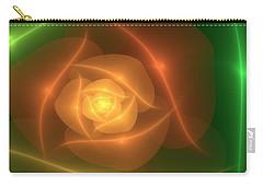 Carry-all Pouch featuring the digital art Orange Rose by Svetlana Nikolova