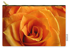 Orange Rose Carry-all Pouch by Tony Grider