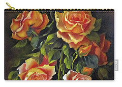 Orange Roses Carry-all Pouch by Katia Aho