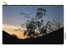 Orange Sky Nature Silhouette Carry-all Pouch