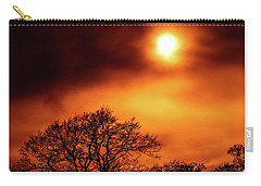 Carry-all Pouch featuring the photograph Orange Sky by RKAB Works