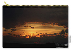 Carry-all Pouch featuring the photograph Orange Sunset by Ann E Robson