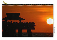 Orange Sunset In Naples Carry-all Pouch