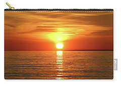 Orange Sunset Lake Superior Carry-all Pouch