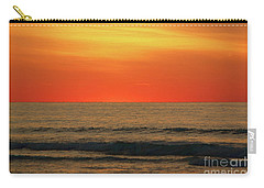 Orange Sunset On The Jersey Shore Carry-all Pouch