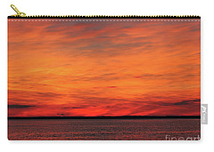 Orange Sunset On The New Jersey Shore Carry-all Pouch