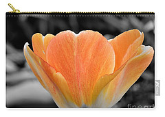 Orange Tea Cup Tulip Carry-all Pouch