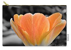 Orange Tea Cup Tulip Carry-all Pouch
