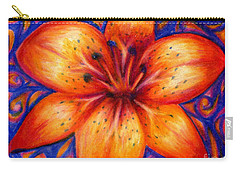 Orange Tiger Lily Drawing Carry-all Pouch