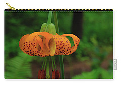 Carry-all Pouch featuring the photograph Orange Tiger Lily by Tikvah's Hope