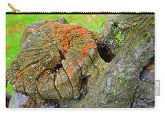 Carry-all Pouch featuring the photograph Orange Tree Stump by Richard Ricci