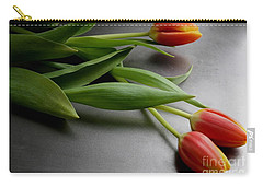 Orange Tulips Carry-all Pouch by Mary-Lee Sanders