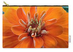 Orange Zinna Carry-all Pouch