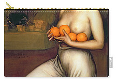 Oranges And Lemons Carry-all Pouch by Julio Romero de Torres