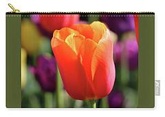 Orange Tulip Square Carry-all Pouch