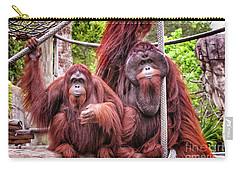 Orangutan Couple Carry-all Pouch by Stephanie Hayes