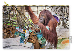 Orangutan In Rope Net Carry-all Pouch by Stephanie Hayes