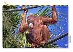 Orangutan On Ropes Carry-all Pouch by Stephanie Hayes