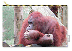 Orangutang Contemplating Carry-all Pouch by Rosalie Scanlon