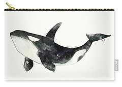 Orca From Arctic And Antarctic Chart Carry-all Pouch by Amy Hamilton