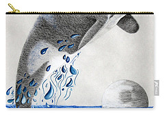 Carry-all Pouch featuring the drawing Orca by Mayhem Mediums