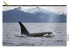 Orca Orcinus Orca Surfacing Carry-all Pouch by Konrad Wothe