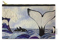 Orcas At Play Carry-all Pouch