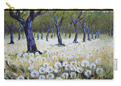 Orchard With Dandelions Carry-all Pouch by Irek Szelag