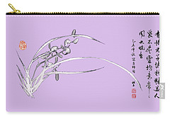 Orchid - 5 Bai-miao In Light Purple Carry-all Pouch