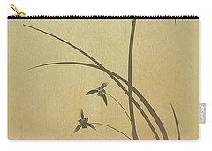 Orchid And Dragonfly Carry-all Pouch
