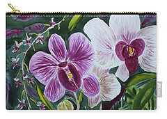 Carry-all Pouch featuring the painting Orchid At Aos 2010 by Donna Walsh