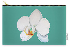 Orchid On Green Carry-all Pouch