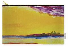 Carry-all Pouch featuring the painting Orchid Sky by Robin Maria Pedrero