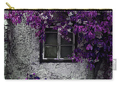 Orchid Vines Window And Gray Stone Carry-all Pouch