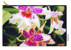 Carry-all Pouch featuring the painting Orchids 1 by Sandy MacGowan