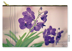 Carry-all Pouch featuring the photograph Orchids In Purple  by Ana V Ramirez
