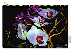 Carry-all Pouch featuring the photograph Orchids In Water Color by Diana Mary Sharpton