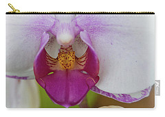 Carry-all Pouch featuring the photograph Orchids Up Close by Judy Hall-Folde