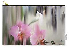 Orchids With Dragonflies Carry-all Pouch