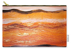 Carry-all Pouch featuring the painting Orders To The Morning by Winsome Gunning