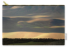 Oregon Canyon Mountain Layers And Textures Carry-all Pouch by Leland D Howard