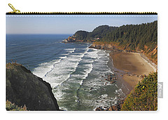Carry-all Pouch featuring the photograph Oregon Coast No 1 by Belinda Greb