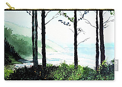 Carry-all Pouch featuring the painting Oregon Coast by Tom Riggs
