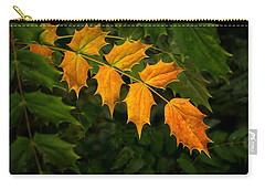 Oregon Grape Autumn Carry-all Pouch by Mary Jo Allen