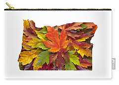 Oregon Maple Leaves Mixed Fall Colors Background Carry-all Pouch