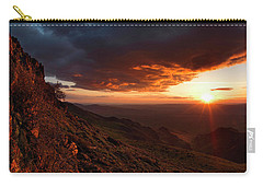 Oregon Mountains Sunrise Carry-all Pouch by Leland D Howard