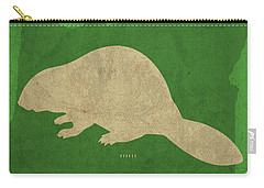 Oregon State Facts Minimalist Movie Poster Art Carry-all Pouch by Design Turnpike