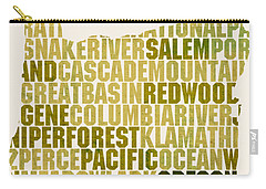 Oregon State Outline Word Map Carry-all Pouch by Design Turnpike