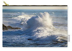 Carry-all Pouch featuring the photograph Oregon Surf by Dennis Bucklin