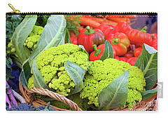 Organic Green Cauliflower At The Farmer's Market Carry-all Pouch